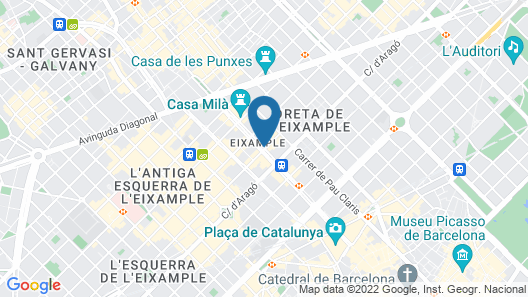 Majestic Hotel & Spa Barcelona Map