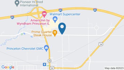 AmericInn by Wyndham Princeton IL Map