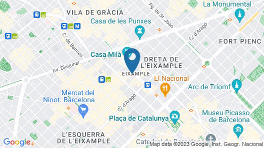 Hotel Condes de Barcelona Map