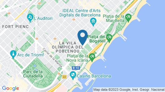Hotel SB Icaria barcelona Map