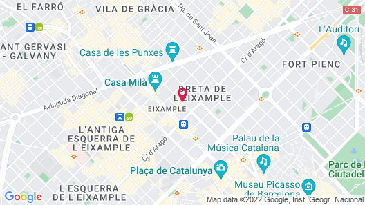 Claris Hotel & Spa GL Map