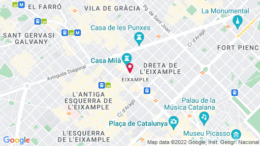 Hotel Royal Passeig de Gracia Map