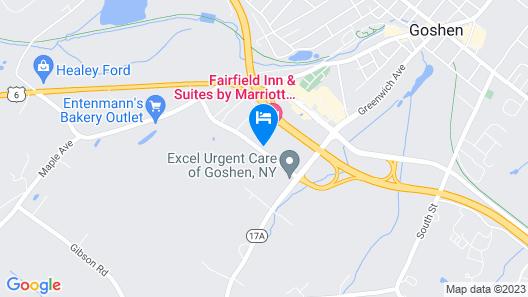 Fairfield Inn & Suites by Marriott Goshen Middletown Map