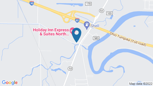 Hampton Inn & Suites Fremont Map