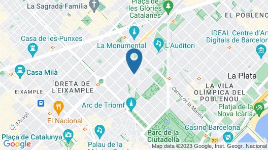 Hotel ILUNION Auditori Map