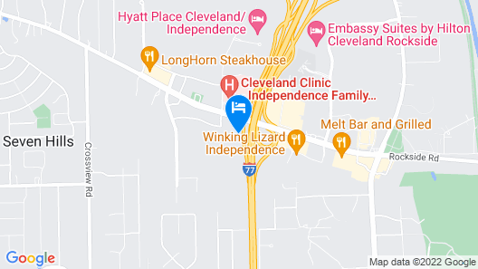 Crowne Plaza Cleveland South - Independence Map