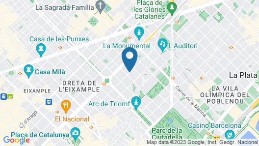Ayre Hotel Caspe Map
