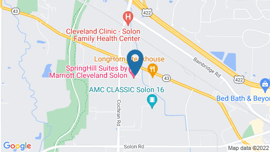 SpringHill Suites by Marriott Cleveland/Solon Map