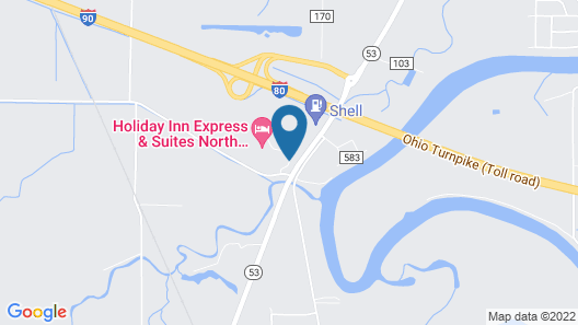 Holiday Inn Express Hotel & Suites NORTH FREMONT Map