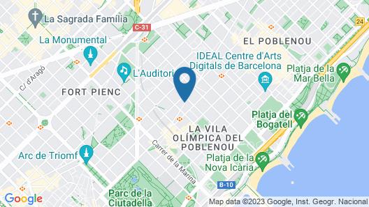 Sallés Hotel Pere IV Map