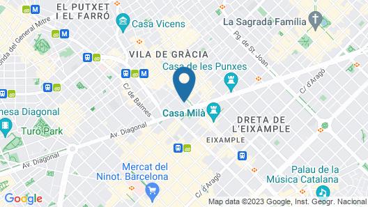 Be Mate Paseo de Gracia Map