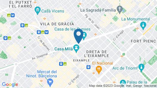 Casa Diagonal Map
