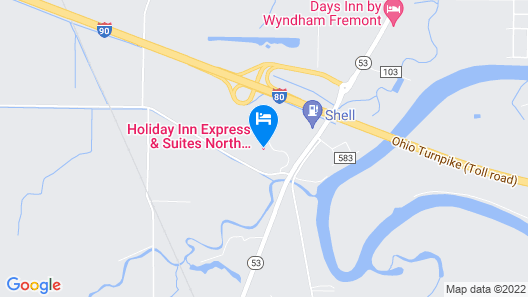 Holiday Inn Express Hotel & Suites NORTH FREMONT, an IHG Hotel Map