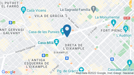 Ally's Guest House Barcelona Bed and Breakfast Map