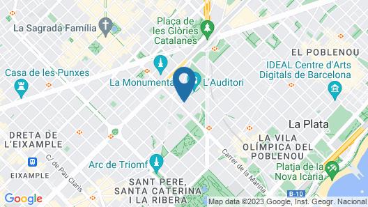 Cosmo Apartments Marina Auditori Map