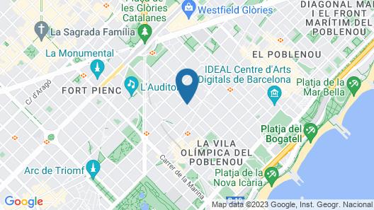 NH Barcelona Diagonal Center Map
