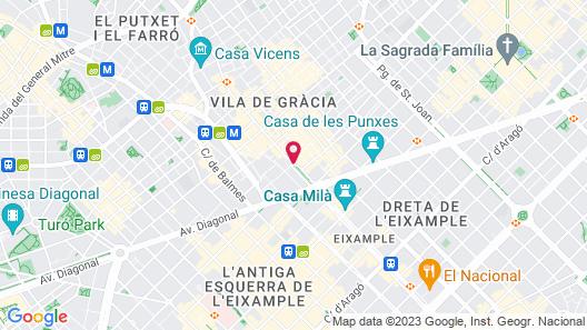 Hotel Casa Fuster Map
