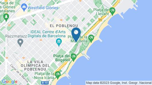 Lugaris Beach - Apartments Map