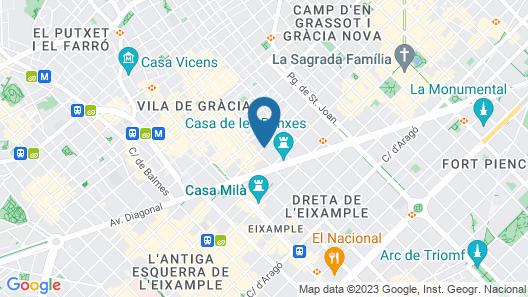 Hotel Catalonia La Pedrera Map