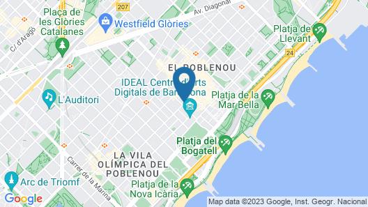 Hotel ILUNION Barcelona Map