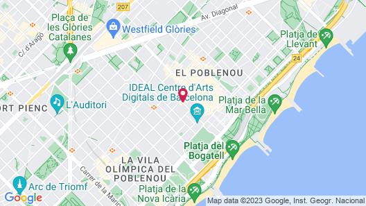 Travelodge Barcelona Poblenou Map