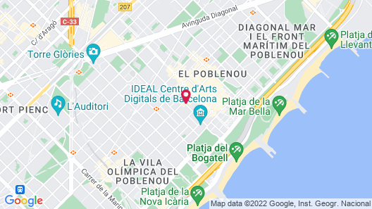 Travelodge Barcelona Poblenou Map