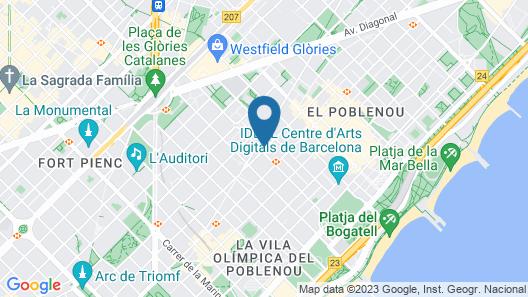 Aspasios Poblenou Apartments Map