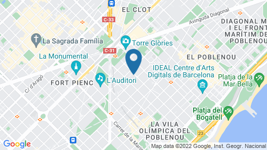 ZT The Golden Hotel Barcelona Map