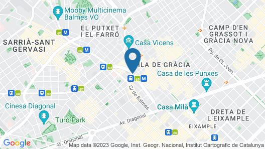 Blue Barcelona Map