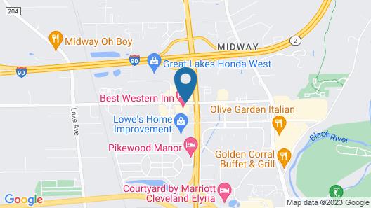 Best Western Inn Map