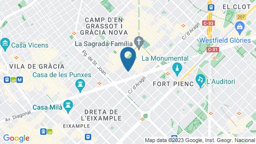 ibis Barcelona Centro Sagrada Familia Map