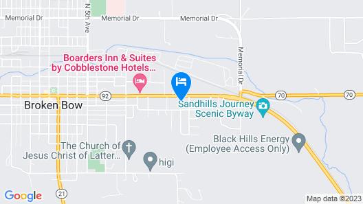 Gateway Motel Map