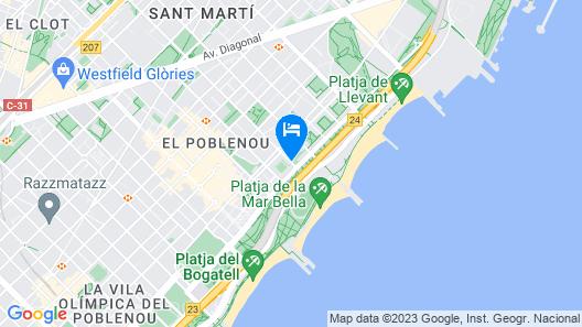 Hesperia Del Mar Map