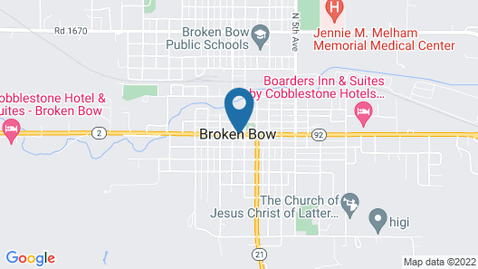 Cobblestone Hotel & Suites – Broken Bow Map