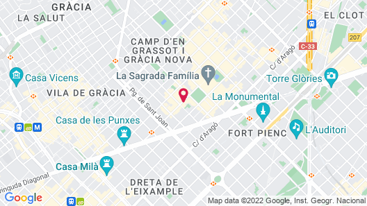 Metropolitan Sagrada Familia – Adults Only Map