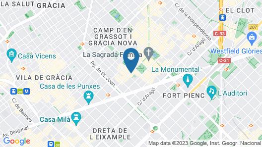Castro Exclusive Residences SPA Sagrada Familia Map