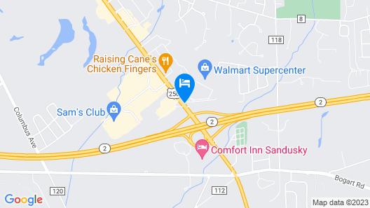 Days Inn by Wyndham Sandusky / Cedar Point Map