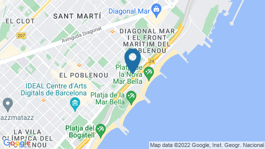 Occidental Atenea Mar - Adults Only Map