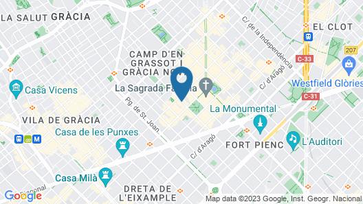 Aparthotel Hispanos 7 Suiza Map
