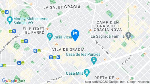 Sant Jordi Hostels Gracia Map