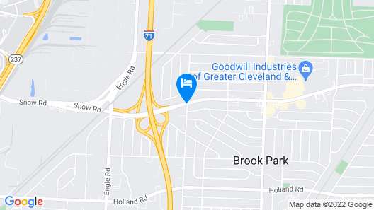 Best Western Airport Inn & Suites Cleveland Map