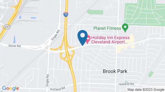 Super 8 by Wyndham Brook Park/Cleveland Map