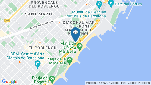 Hotel Best Front Maritim  Map