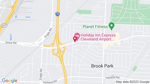 Holiday Inn Express Cleveland Airport - Brookpark, an IHG Hotel Map