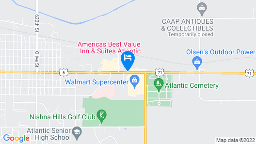 Americas Best Value Inn & Suites Atlantic Map