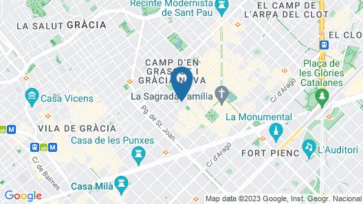 Hotel Barcelona 1882 Map