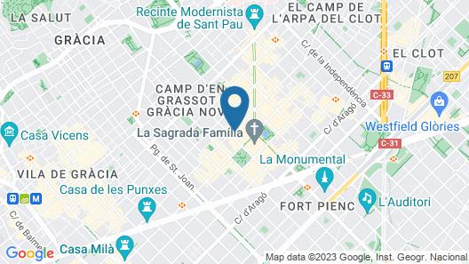 Sensation Sagrada Familia Map