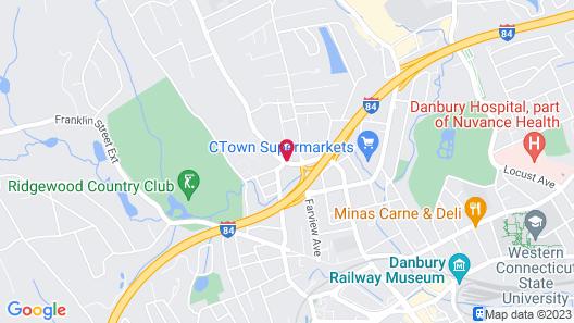 Golden Hill Inn Danbury Map