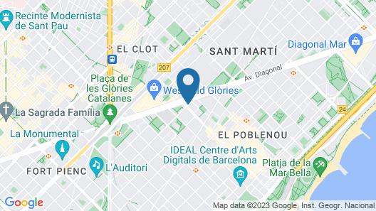 Four Points By Sheraton Barcelona Diagonal Map