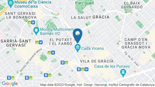 Hostal Lesseps Map